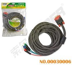 Suoer 1 VGA To 3 RCA Cable (VGA-03-5m)