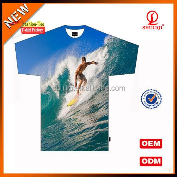 Custom fancy 3d digital printing t shirt with vivid for Custom t shirt digital printing