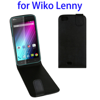 mobile phone hanging accessories for wiko lenny leather flip case