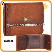 GW3022 Full grain wallet geunine lamp leather pouch and bag