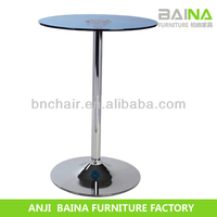 Cheap professional maker commercial high top bar tables