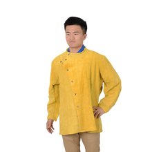 Cow Split Leather Long Sleeve Protective Safety Coat Welding Coat