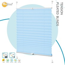 interior vertical shade tension pleated blinds