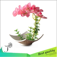 Butterfly orchid resin bonsai suit high simulation false water plants