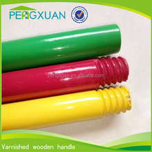 low price 130*2.3cm floor cleaning broomstick handle lacquering