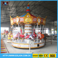 Attractive hot sale !high quality beautiful carousel for outdoor children or family games