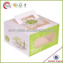 Fabricación de caja contenedora para pastel de plástico desechable de alta calidad