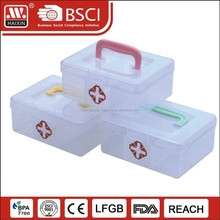 plastic storage box with small pill bottles & devided /medicine pill box/plastic storage for homeware