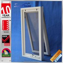 High water tightness white australian type awning window with 30-40 years lifespan