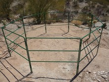 3 round rails livetaock yard panels for horse / cattle / goat / sheep ( with ISO9001 and SGS)