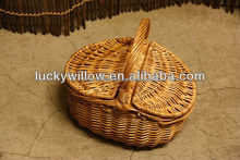 wire egg basket wholesale made from spilt willow with plastic lining