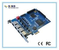Quad Span E1/T1/J1 digital card available PCIe 1.0 compliant slot - 1x, x4, x8, and x16