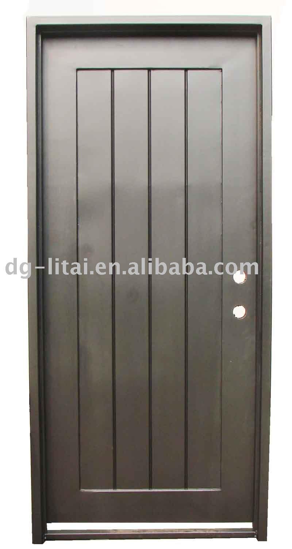 Puerta de hierro forjado diseño para bonita casa