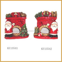 mini ceramic santa claus village houses with gift ornament
