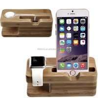 Wood Charging Stand Bracket Docking Charge Station for iphone 6 6 plus 5S for Apple Watch 38mm 42mm