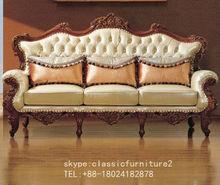 Luxury Antique Sofa/luxury hotel room furniture,lobby sofa