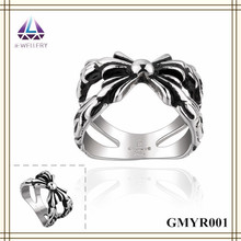 Fast Delivery Fashion Stainless Steel Antique Silver Jewelry Ring For Mens