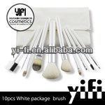 Top quality brush!White case 10pcs makeup brush set Face Make Up