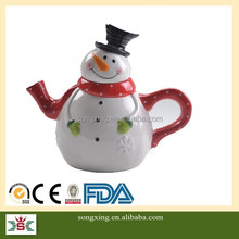 Best selling new high quality christmas decoration ceramic coffee tea pot set