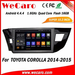 WECARO 7 Colour Changing Steering Wheel Quard Core Pure Android Car Multimedia Navigation System For Toyota Corolla 2014 2015
