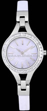 Luxury watch diamond accents on both the dial and bezel women's watch
