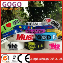Cheap colorful logo debossed/printed silicone bangles/wristbands, Top quality professional silicone bangles and bracelets