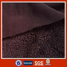 Polyester anti pilling polar fleece bonded knit fabric
