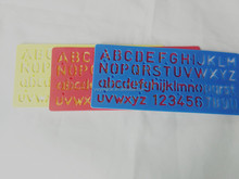 Factory Plastic Letter Stencil Ruler OEM and ODM office stationery for school ruler for tailor