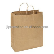 custom made white craft paper shopping bag with your own logo print