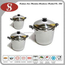 6PCS cooking pot stainless steel stock pot