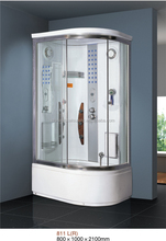 whirlpool steam massage tempered glass bathroom shower enclosure /shower cabin /shower room