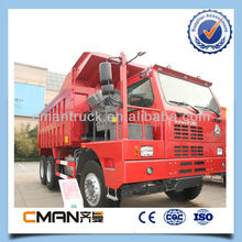 sinotruk howo mining dump truck 6x4 371hp 70 ton used for mining work made in China