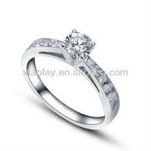 un carato 2013 silver anello di diamanti da sposa