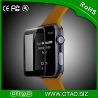2015 New Quality full cover for apple watch tempered glass screen protector