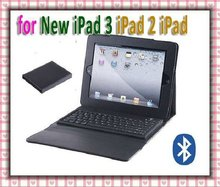 Wireless Bluetooth Keyboard + Leather Case for New iPad 3 iPad 2