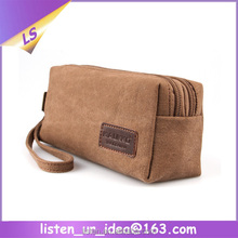 Excellent designer 16 ounce canvas cosmetic pouch