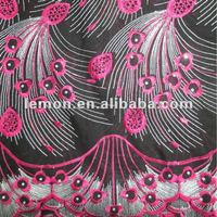 hot sale embroidery cotton voile lace fabric