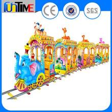 Funtime kids electric mini park ride track train / amusement rides train