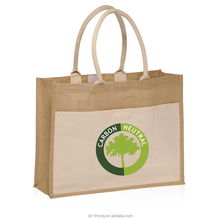 Promotional Jute Tote Bags Personalized with Company Logo