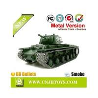 #3878-1radio control RC Tank RUSSIAN KV-1Upgrade metal track & gearbox- BB shooting + Smoking + sounding - Pro !!