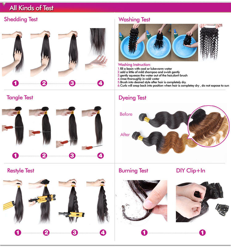 Factory Price Wholesale 8a Grade Brazilian Hair Different Types Of