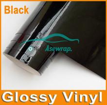 High Glossy Car Vehicle Black Glossy Vinyl Wrap/Black Glossy Vinyl/gloss car wrap vinyl wrap