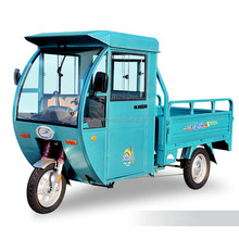 3 wheel electric cargo motorcycle with closed cabin
