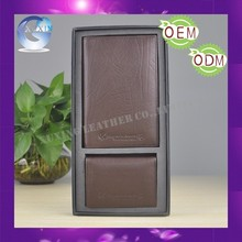 Leather passport holder and name card holder gift set