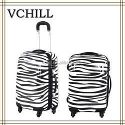 Hard Unique Wheeled Animal Print Luggage