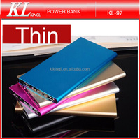 Ultrathin portable external long lasting thin 8000mah power bank 2015-2016