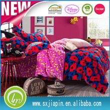high density lastest design pillow case Fitted sheet Flat sheet in one fleece bed sheet set