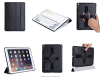 Most Selling Products Ultra Thin Design Folio Stand Tablet Case With Hand Strap for ipad 6