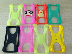 High quality silicone stretchable silicone phone frame / silicone phone bumper case for general smart phone