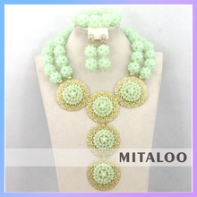 Mitaloo 2015 Wholesale Newest Design Good Looking African Jewelry Set For Party Or Wedding MT0004